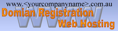 Web domain registration and Web hosting packages.